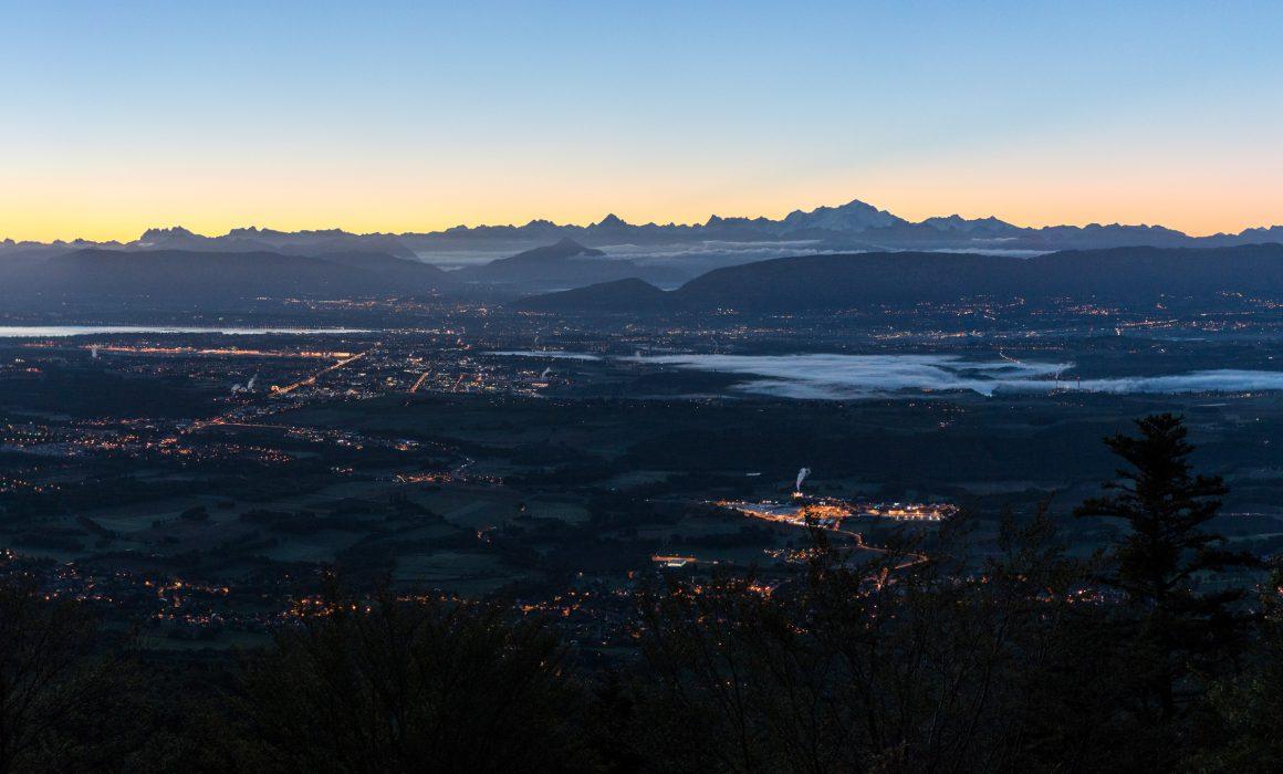Geneva landscape sunrise