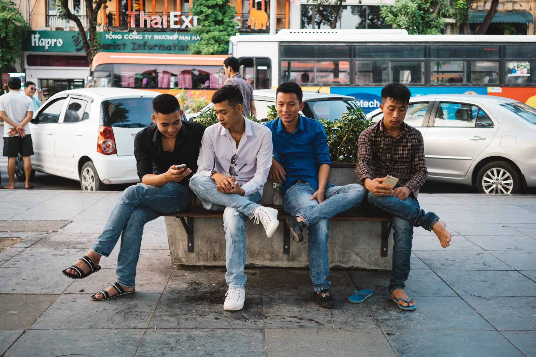Men in Hanoi