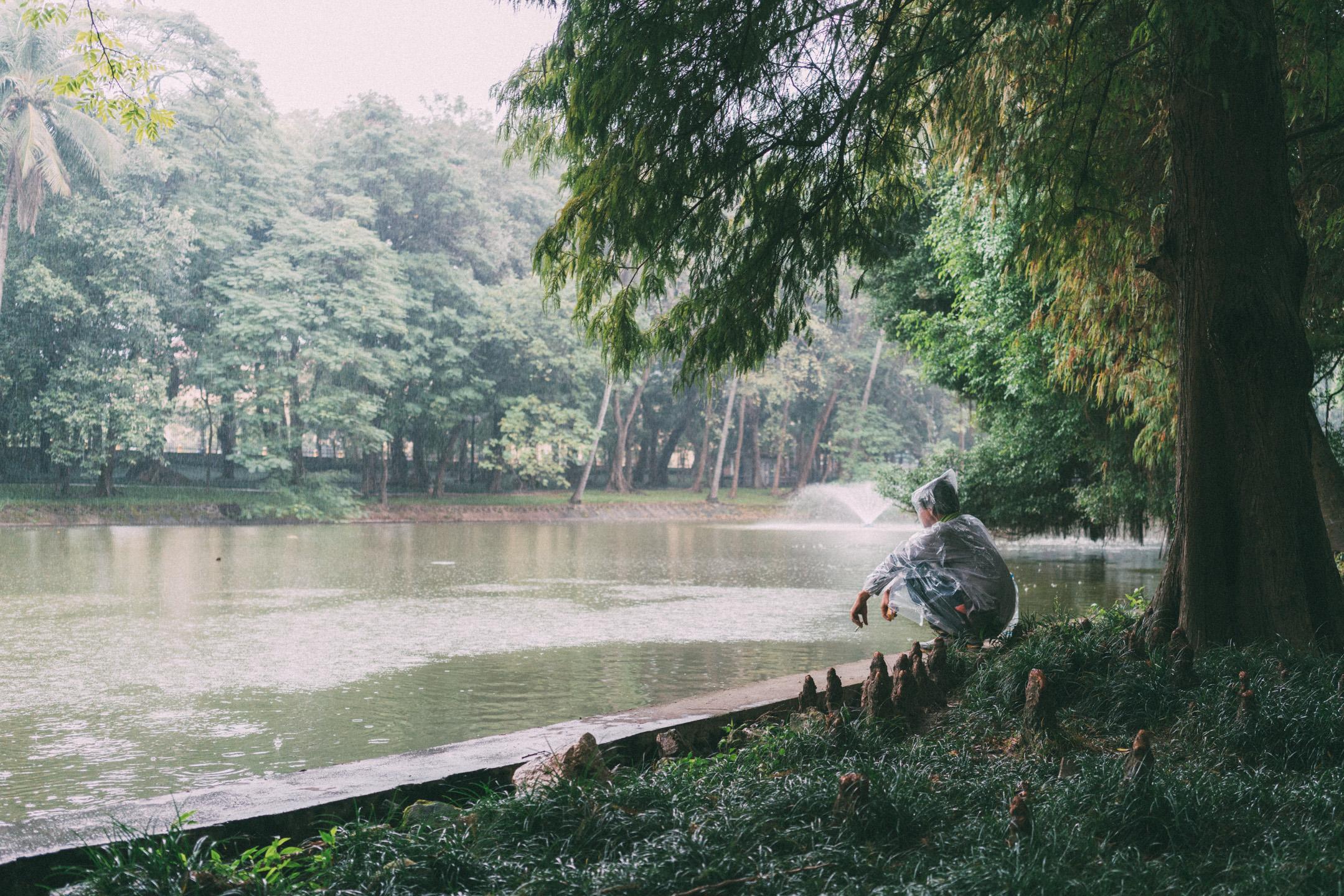 Man in Hanoi Botanic Garden