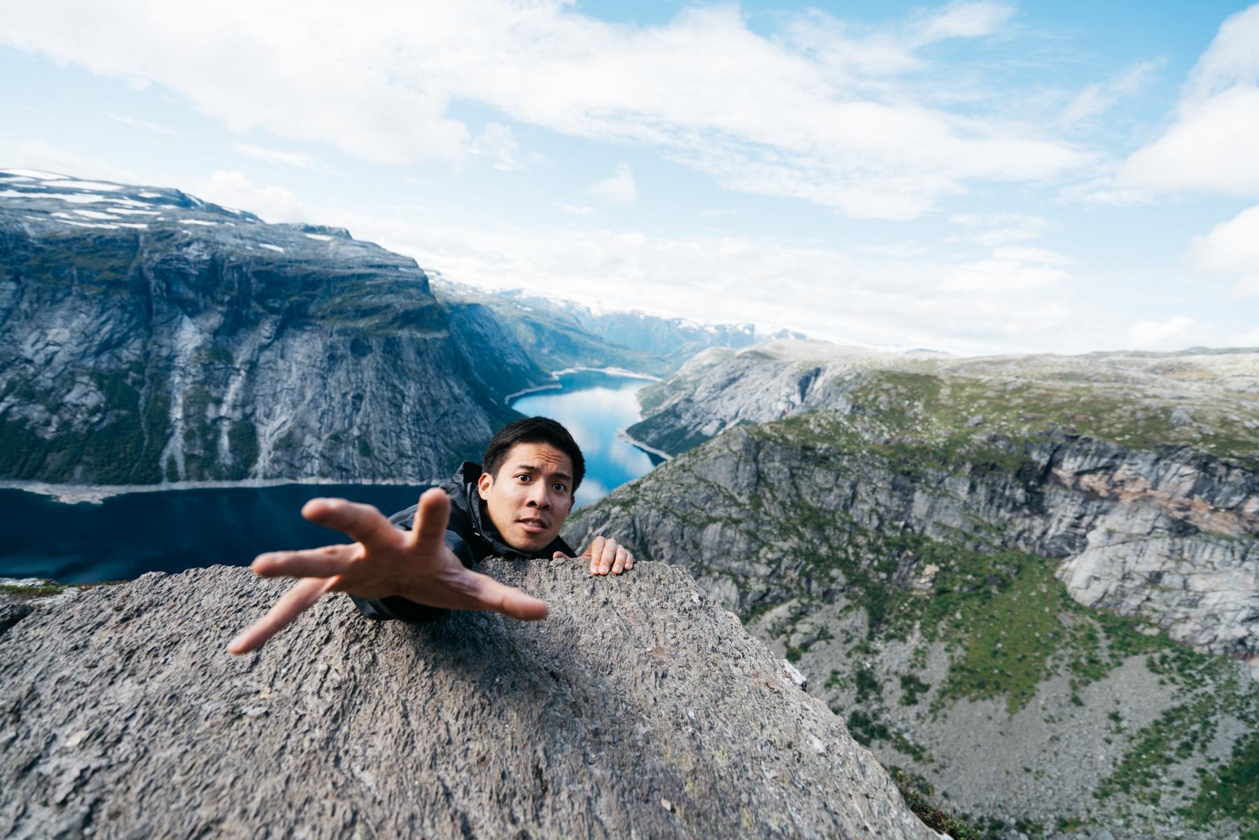 Falling Trolltunga