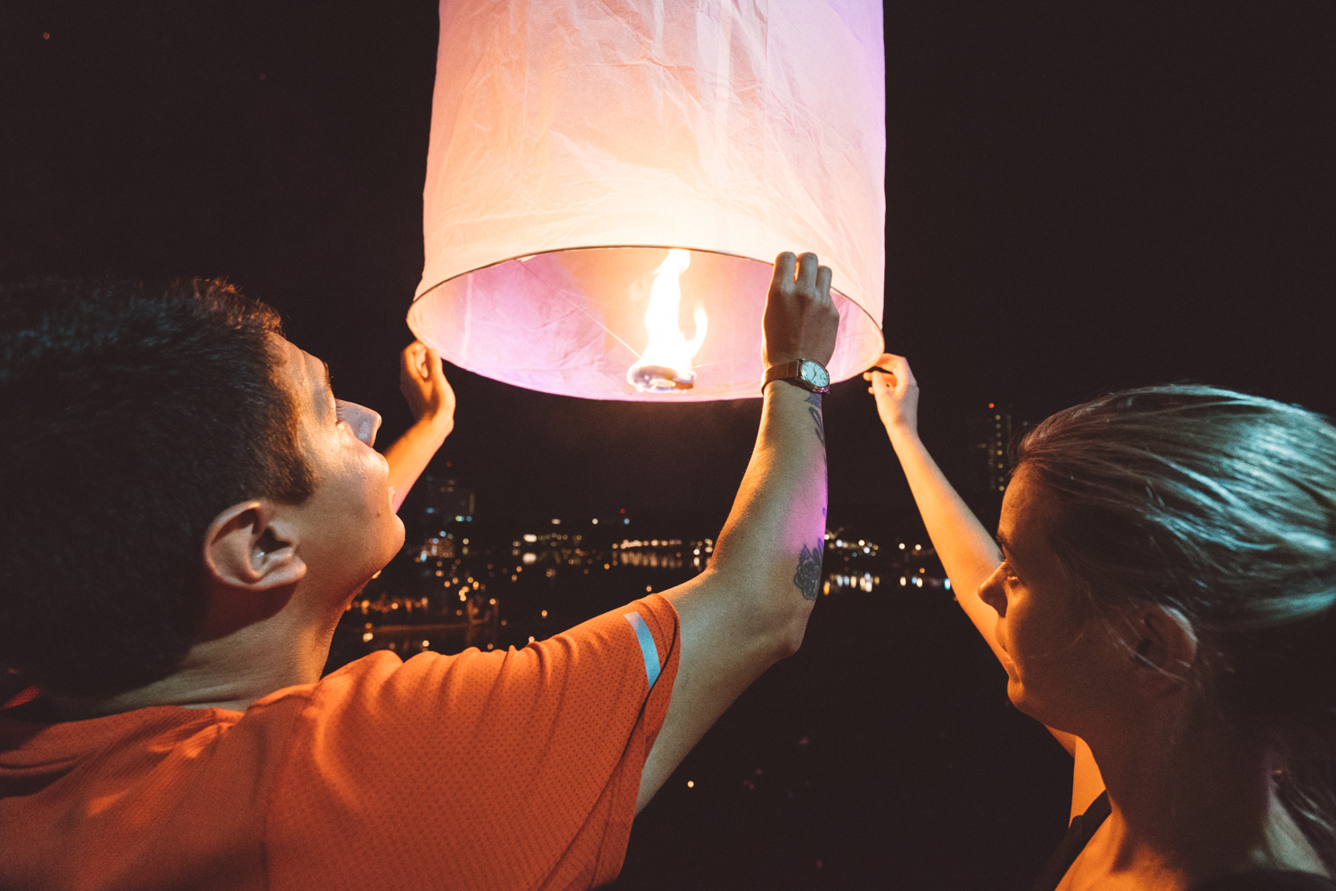 released the lantern