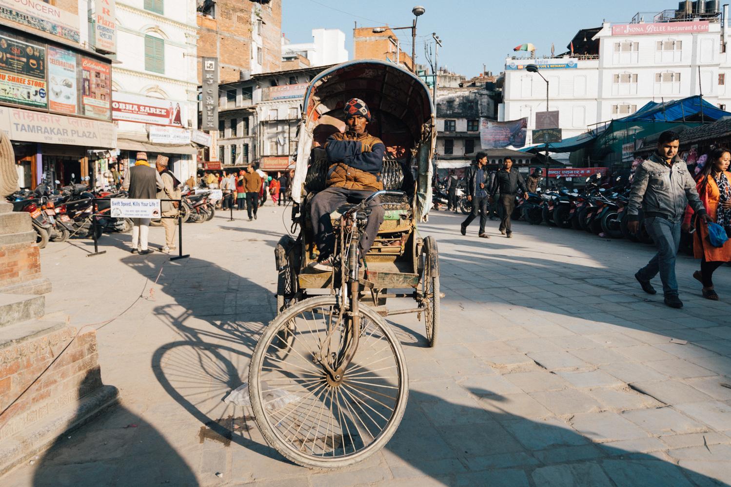 tuk tuk in Kathmandu