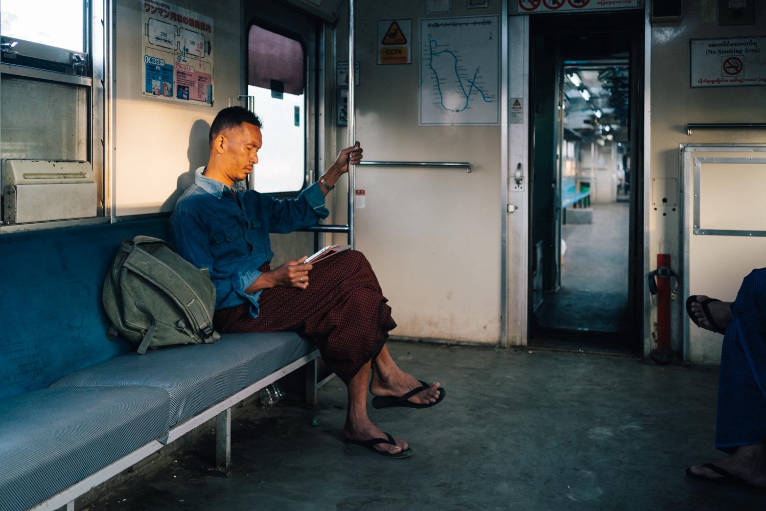 Yangon Train commuter