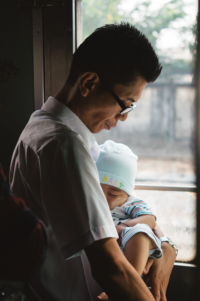 Baby in Yangon Train
