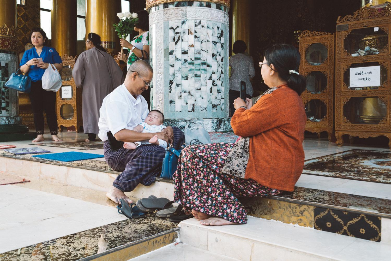 baby at Shwedagon