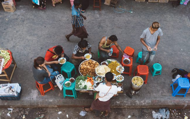Lunch time in Yangon