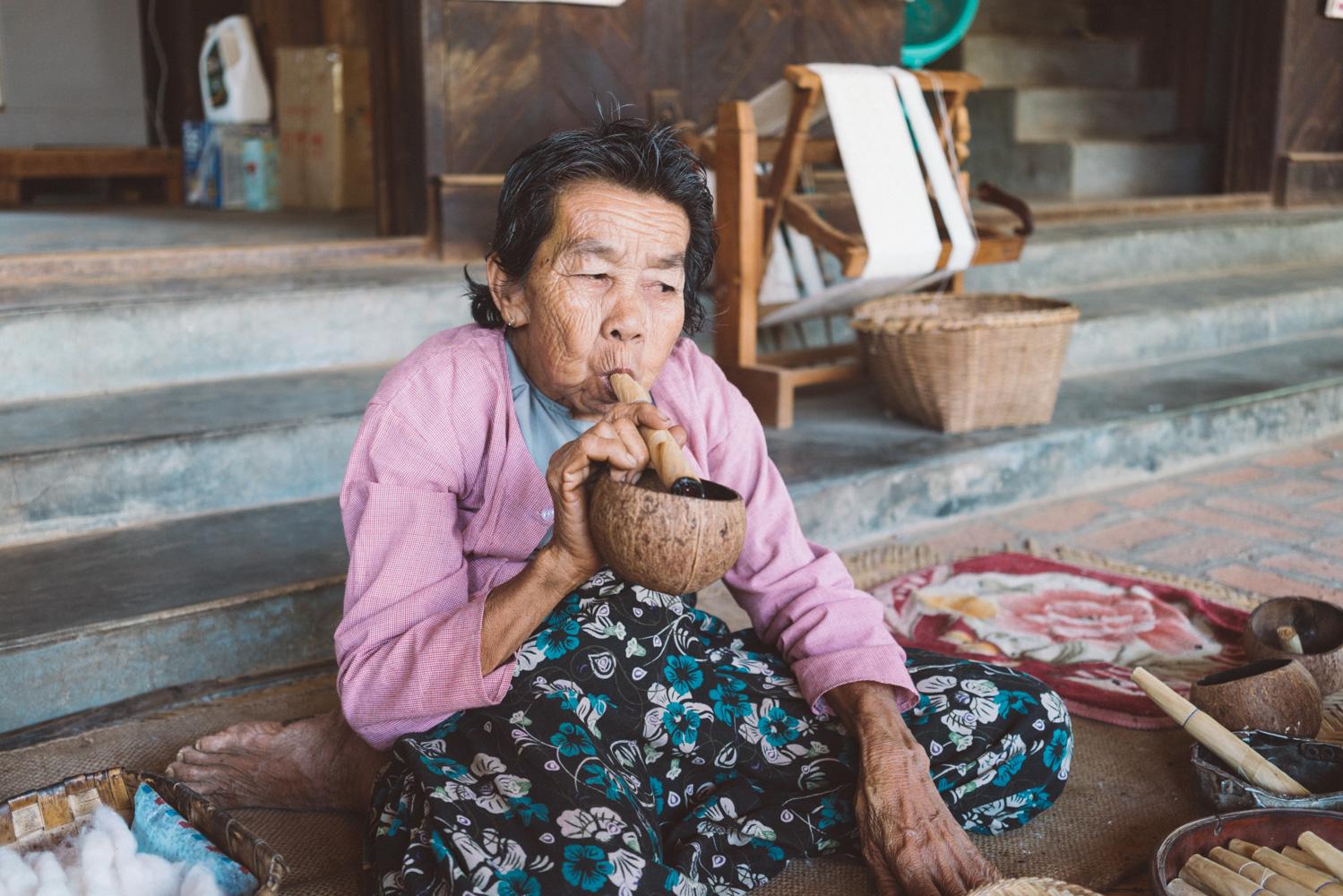 Smoker in Bagan