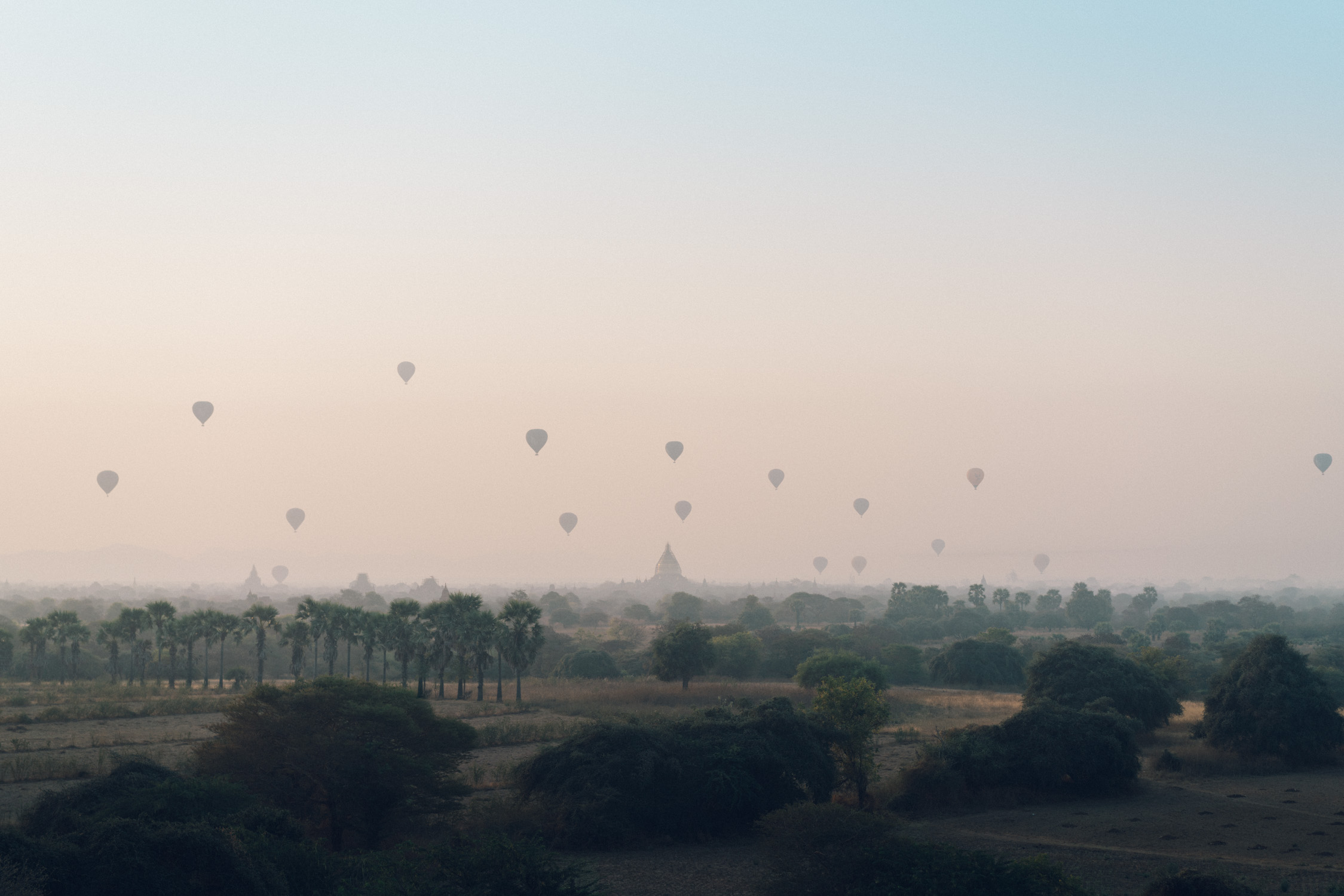 Hot Air Balloon over Bagan
