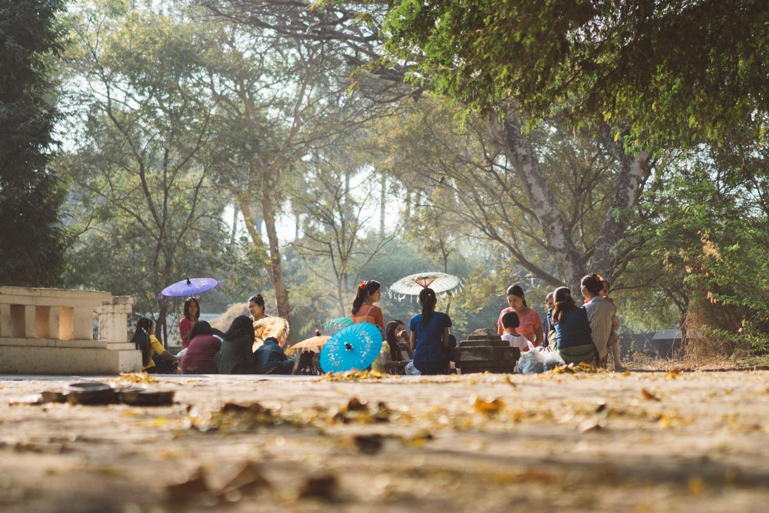 Girls in Bagan