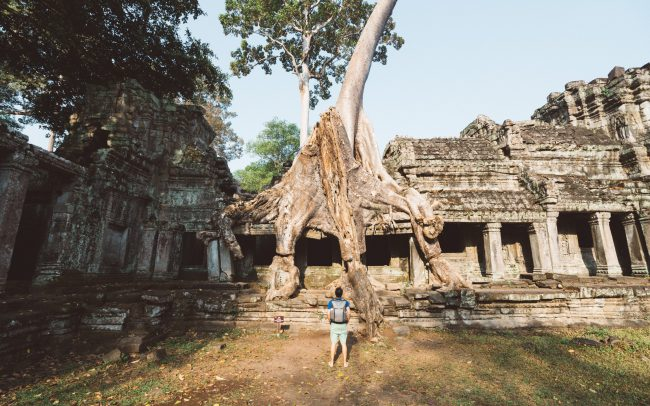 self portrait in Angkor Wat [David Tan]