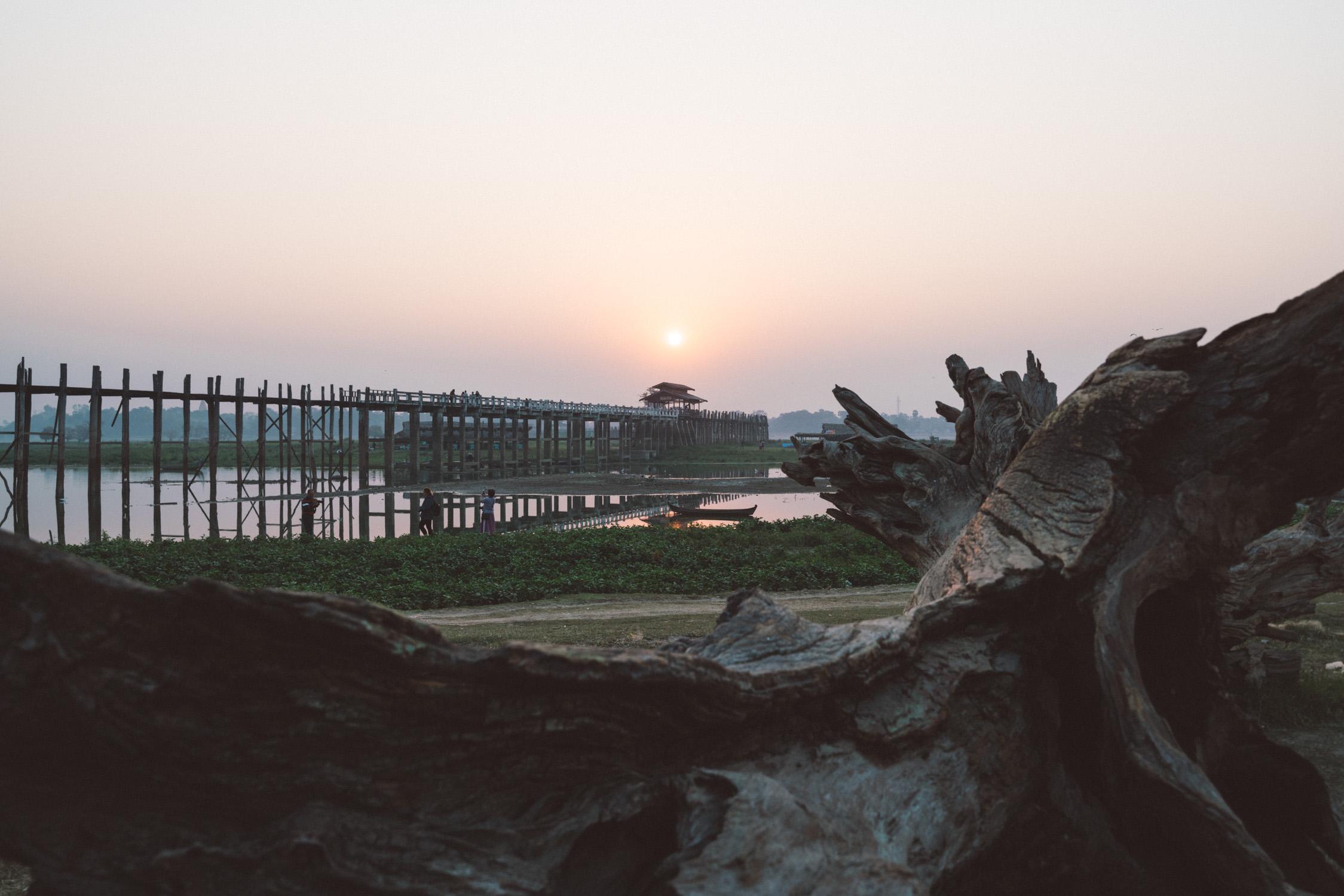 U bein bridge during sunrise [David Tan]