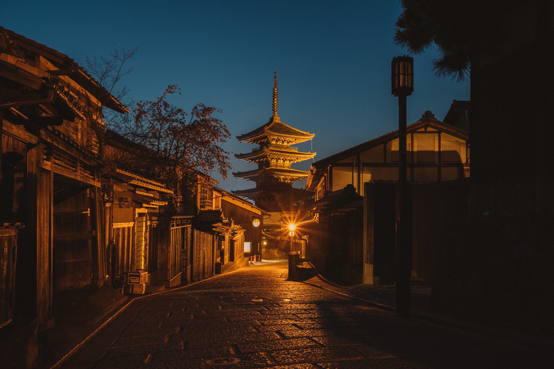 Hokanji kyoto at night time [David Tan]