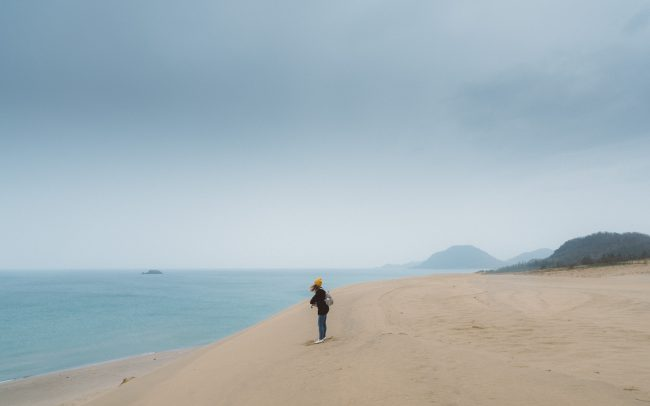 portrait at tottori sand dune [David Tan]