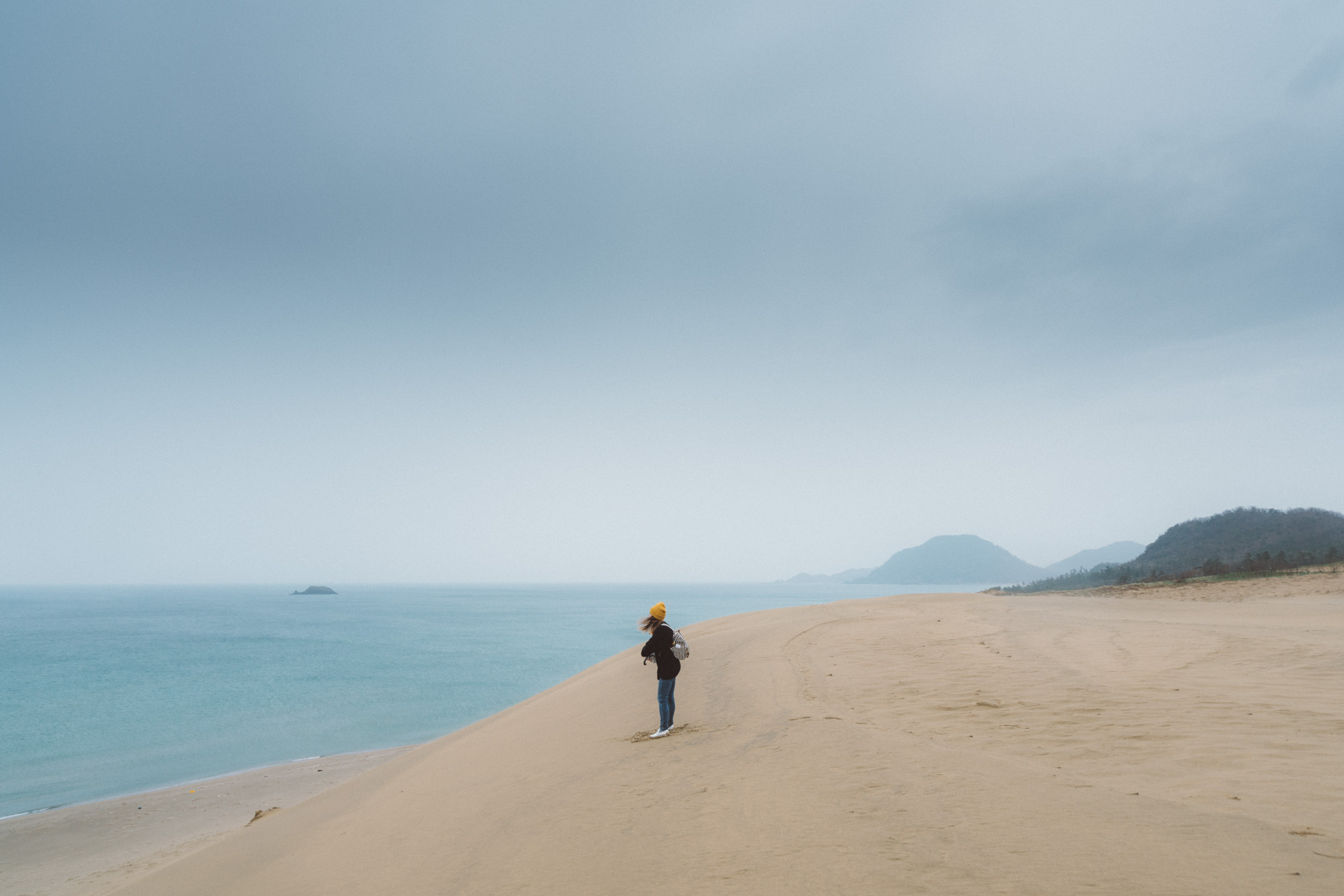 portrait at tottori sand dune [David Tan]