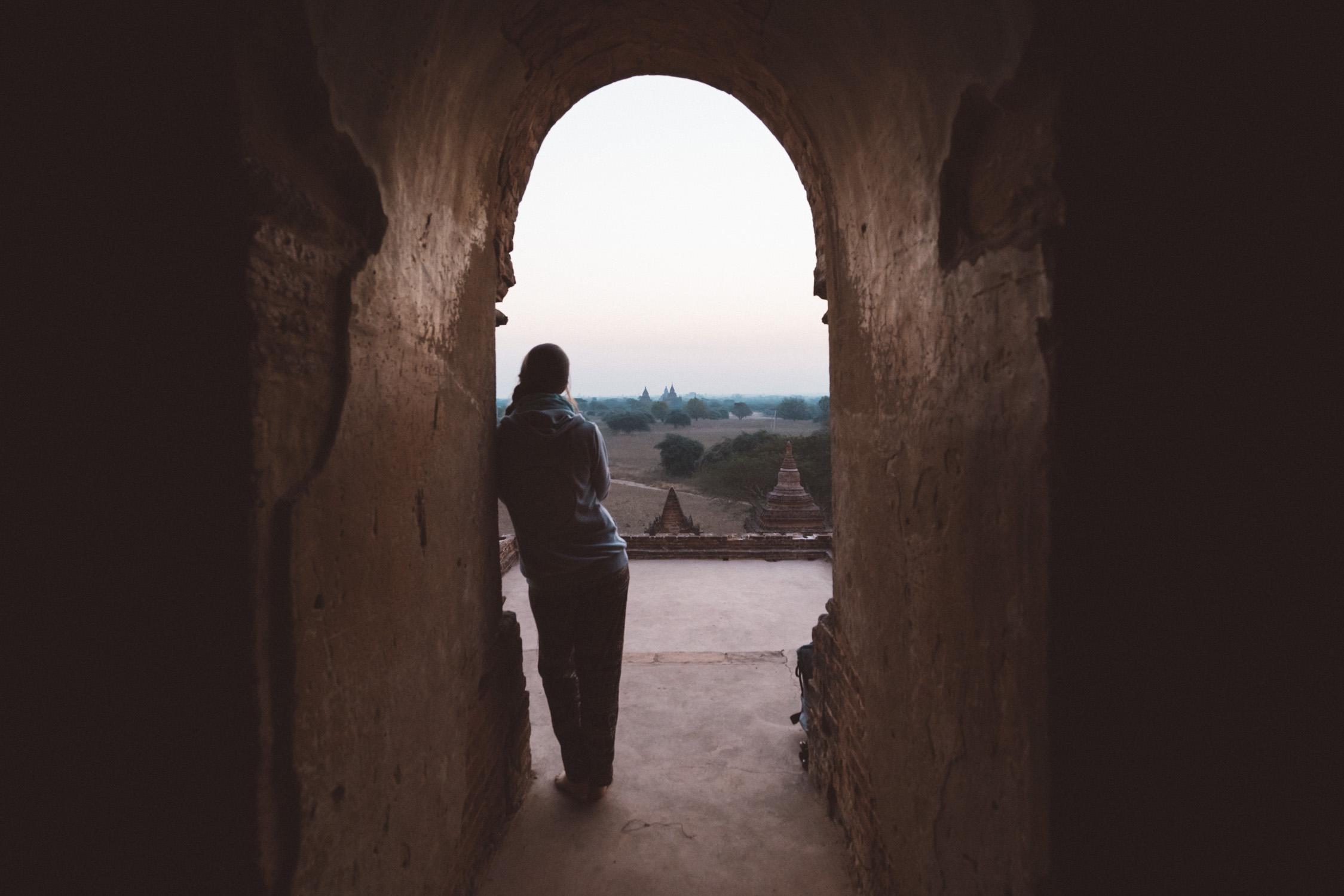 sunrise in Bagan temple portrait [David Tan]