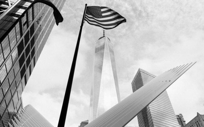 freedom tower with USA flag [David Tan]